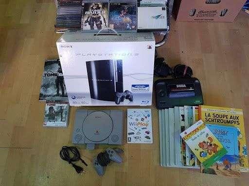 Arrivage consoles, jeux vidéos et bandes dessinées