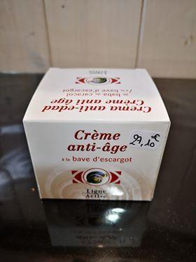Crème anti-âge à la bave d'Escargot